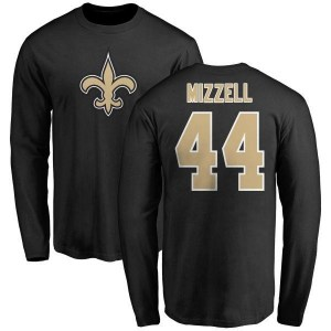 Taquan Mizzell New Orleans Saints Youth Black Name & Number Logo Long Sleeve T-Shirt -