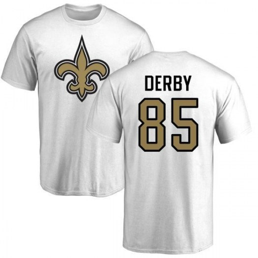 A.J. Derby New Orleans Saints Youth White Name & Number Logo T-Shirt -