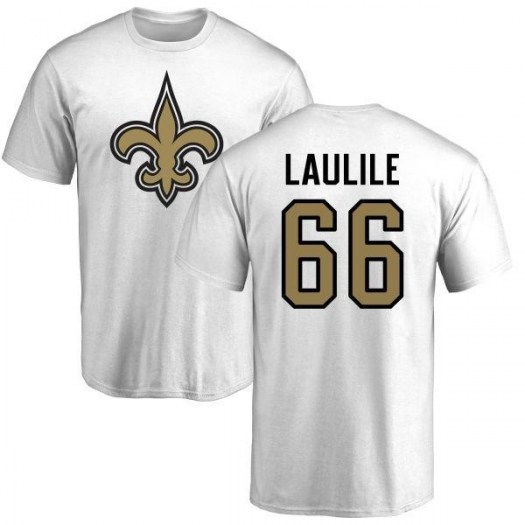 Tomasi Laulile New Orleans Saints Youth White Name & Number Logo T-Shirt -