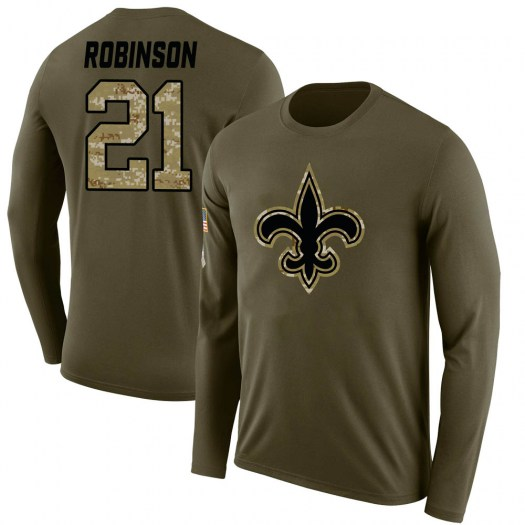 Patrick Robinson New Orleans Saints Men's Legend Olive Salute to Service Sideline Long Sleeve T-Shirt